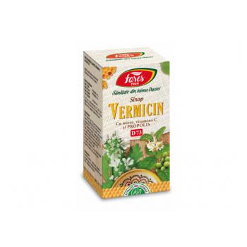 Sirop Vermicin cu miere si propolis d73 100 ml FARES