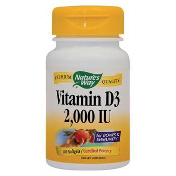 Vitamin d3 2000ui 120 cps NATURES WAY
