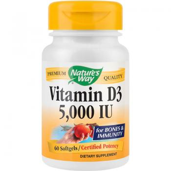 Vitamin d3 5000ui 60 cps NATURES WAY