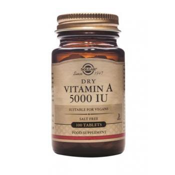 Vitamina a 5000 iu 100 tbl SOLGAR