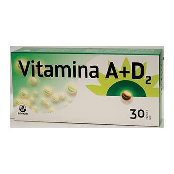 Vitamina a+d2 30 cps BIOFARM