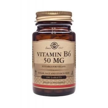 Vitamina b6 50 mg 100 tbl SOLGAR