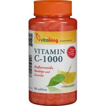 Vitamina c 1000mg cu bioflavonoide, acerola si macese 90 cpr VITAKING