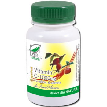 Vitamina c 1000mg cu maces & acerola - aroma grapefruit 100 cpr PRO NATURA