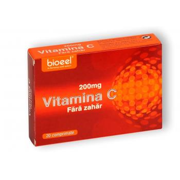 Vitamina c 200 mg, fara zahar 20 cpr BIOEEL