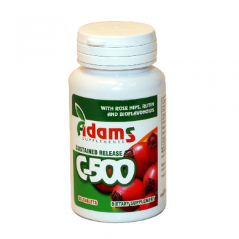 Vitamina c-500 cu macese 30 tbl ADAMS SUPPLEMENTS