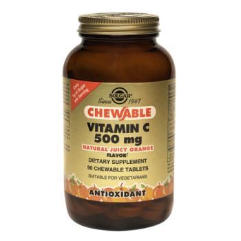 Vitamina c 500 mg (natural juicy orange) 90 tbl SOLGAR