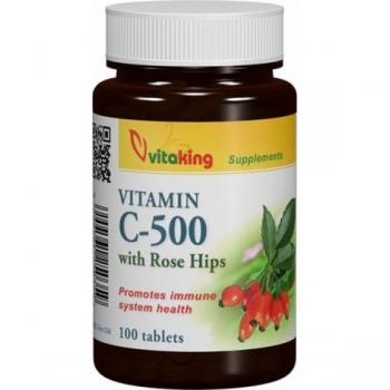 Vitamina c 500mg cu macese 100 cpr VITAKING