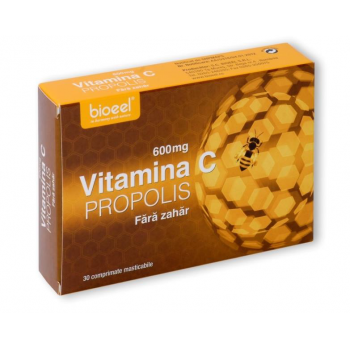 Vitamina c 600 mg cu propolis 30 cpr BIOEEL