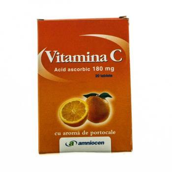 Vitamina c cu aroma de portocale 20 tbl AMNIOCEN