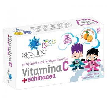 Vitamina c + echinacea, pentru copii 30 cpr BIO SUN LINE