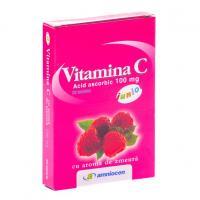 Vitamina c junior, cu aroma de zmeura