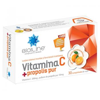 Vitamina c + propolis pur 30 cpr BIO SUN LINE
