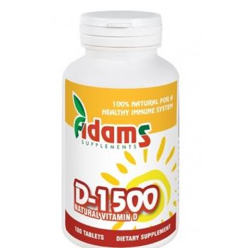 Vitamina d-1500  180 cpr ADAMS SUPPLEMENTS