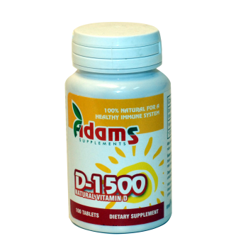 Vitamina d-1500 60 tbl ADAMS SUPPLEMENTS