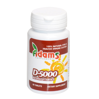 Vitamina d-5000 60 tbl ADAMS SUPPLEMENTS