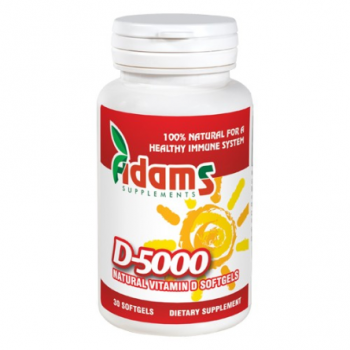 Vitamina d-5000 naturala  30 cps ADAMS SUPPLEMENTS