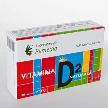 Vitamina d2 naturala 30 cps REMEDIA