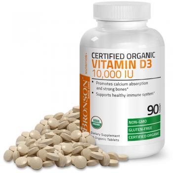 Vitamina d3 10.000iu organica 90 cpr BRONSON