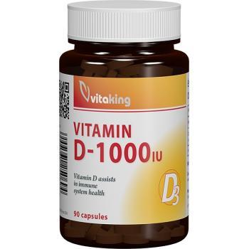 Vitamina d3 1000ui 90 cps VITAKING