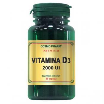 Vitamina d3 2000 ui 60 cps COSMOPHARM PREMIUM