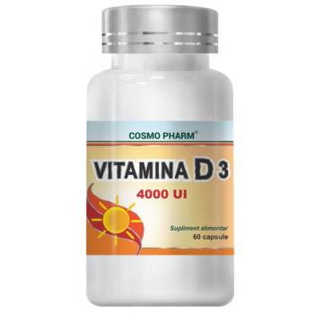Vitamina d3 4000 ui  60 cps COSMOPHARM