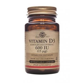Vitamina d3 600 iu 60 cps SOLGAR