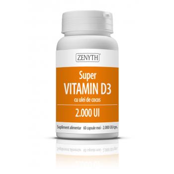 Vitamina d3 cu ulei de cocos 60 cps ZENYTH