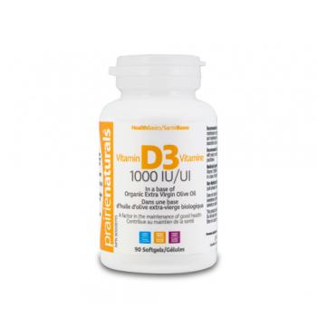 Vitamina d3 forte – 1000 ui 90 cps PRAIRIE NATURALS