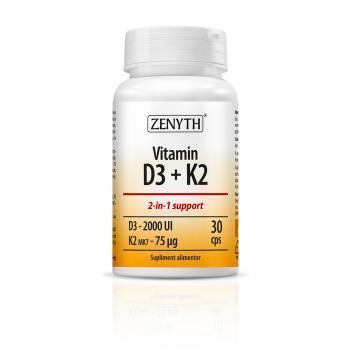 Vitamina d3+k2 30 cps ZENYTH