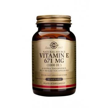 Vitamina e 671 mg (1000 iu) 50 cps SOLGAR