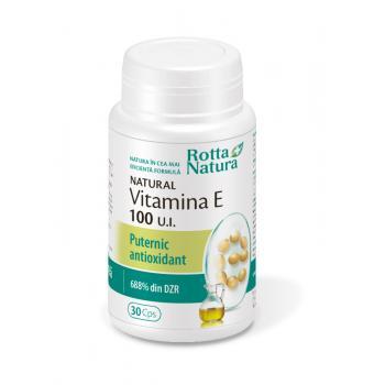 Vitamina e naturala 100 u.i. 30 cps ROTTA NATURA