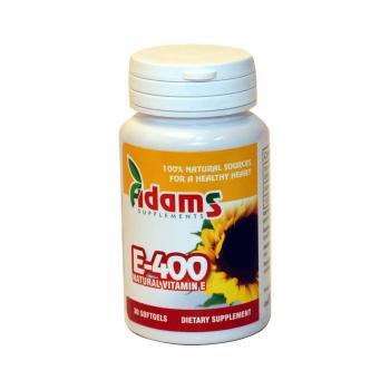 Vitamina e naturala 400mg  30 cps ADAMS SUPPLEMENTS