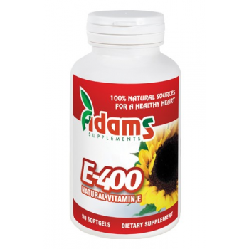 Vitamina e naturala 400ui  90 cps ADAMS SUPPLEMENTS