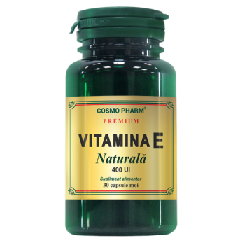 Vitamina e naturala 30 cps COSMOPHARM PREMIUM