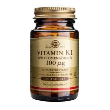 Vitamina k1 100 mcg 100 tbl SOLGAR