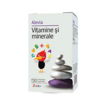 Vitamine si minerale junior 30 cpr ALEVIA