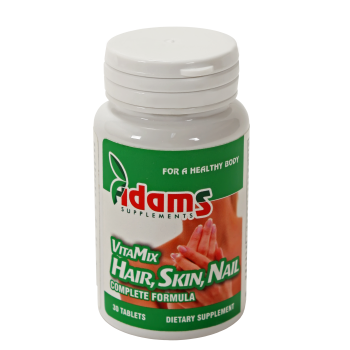 Vitamix hair, skin, nail 30 tbl ADAMS SUPPLEMENTS