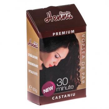 Vopsea de par premium castaniu 60 gr HENNA SONIA
