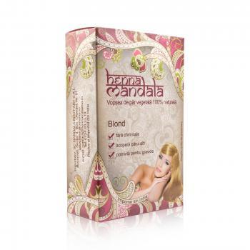 Vopsea naturala pentru par, blond 100 gr HENNA MANDALA
