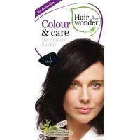 Vopsea permanenta fara amoniac, Colour & Care, 1 Black, Hairwonder