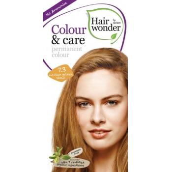 Vopsea permanenta fara amoniac, colour & care, 7.3 medium golden blond, hairwonder  40+20 ml HENNAPLUS