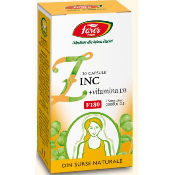 Zinc + vitamina d3 30 cpr FARES
