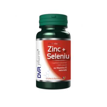 Zinc+seleniu cu vitamina c naturala 60 cps DVR PHARM